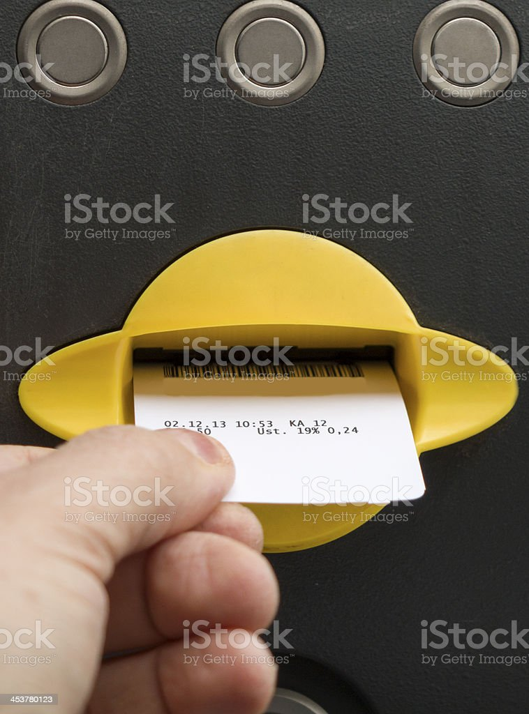 Redeem parking ticket stock photo