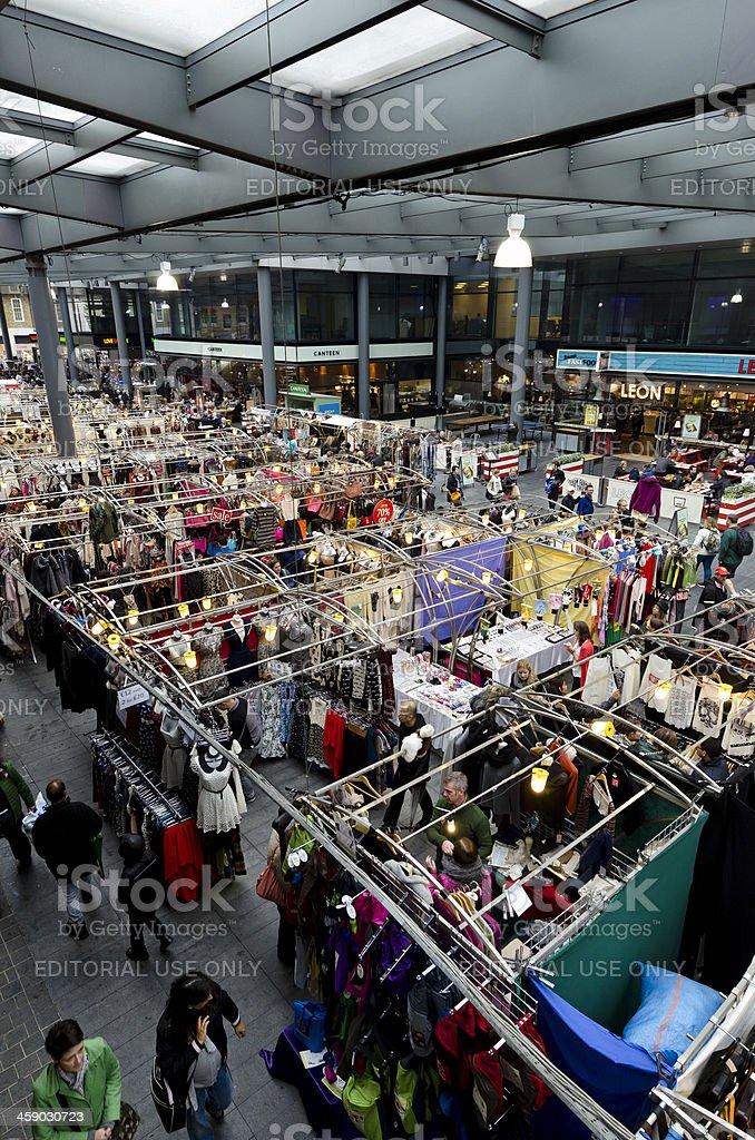 Redeveloped Old Spitalfields Market, London stock photo