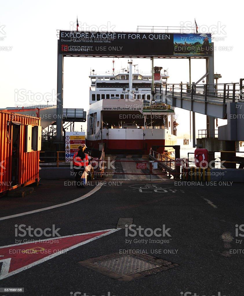 Redfunel ferry at southampton docks stock photo