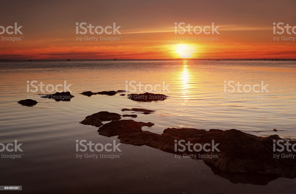 Red-Gold Sunset royalty-free stock photo