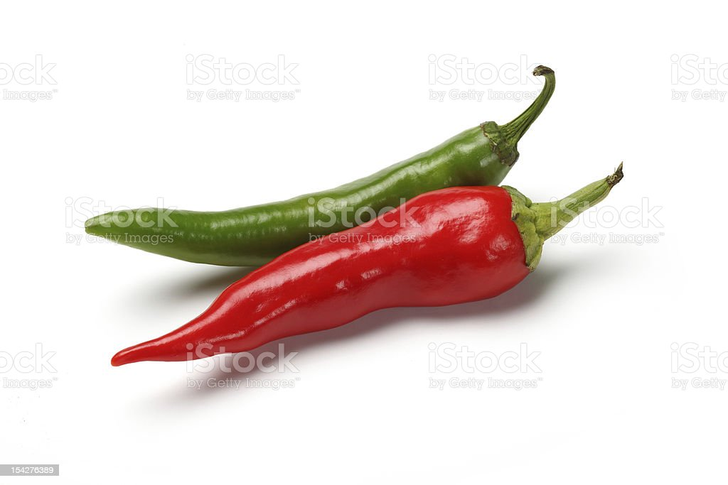 Red-Green Peppers royalty-free stock photo