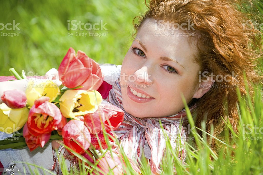 Red-Green-Red royalty-free stock photo