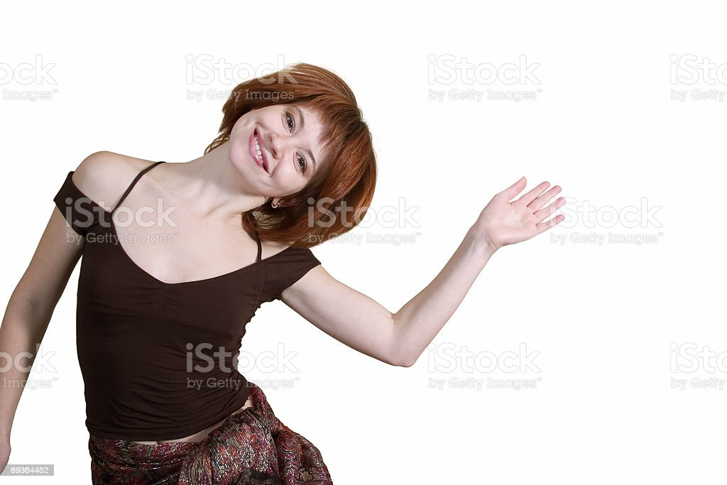 red-haired woman royalty-free stock photo