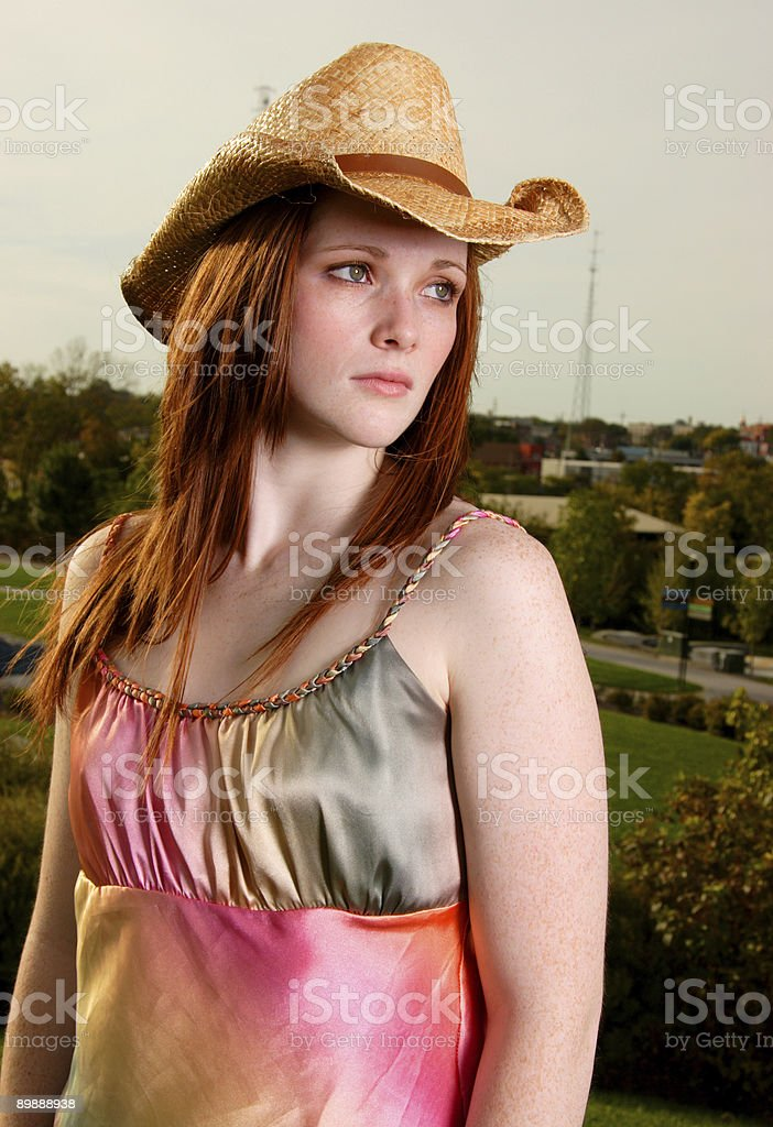 redhead beauty scenes - teen royalty-free stock photo