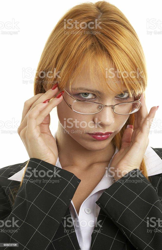 redhead businesswoman royalty-free stock photo