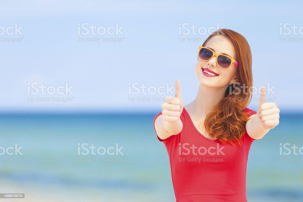 На пляже рыжие фото 141-855