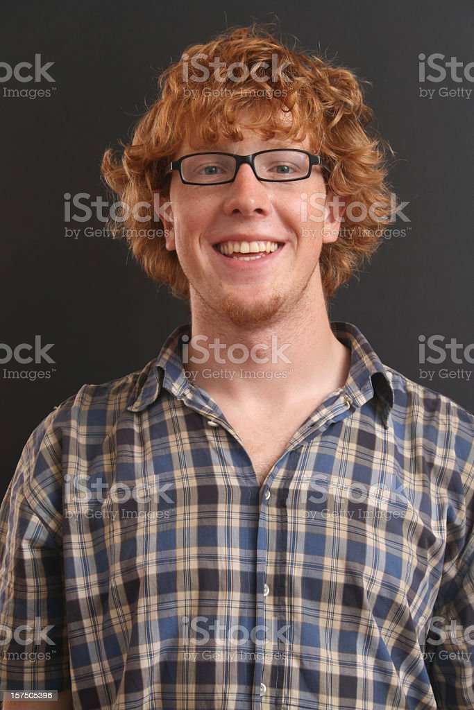 Redhead male smiling royalty-free stock photo