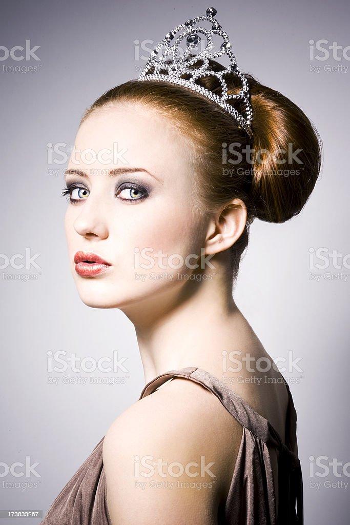 Redhead Princess royalty-free stock photo