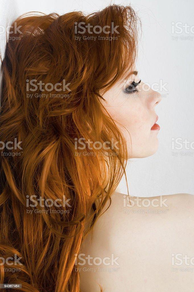 Redhead sensuality stock photo