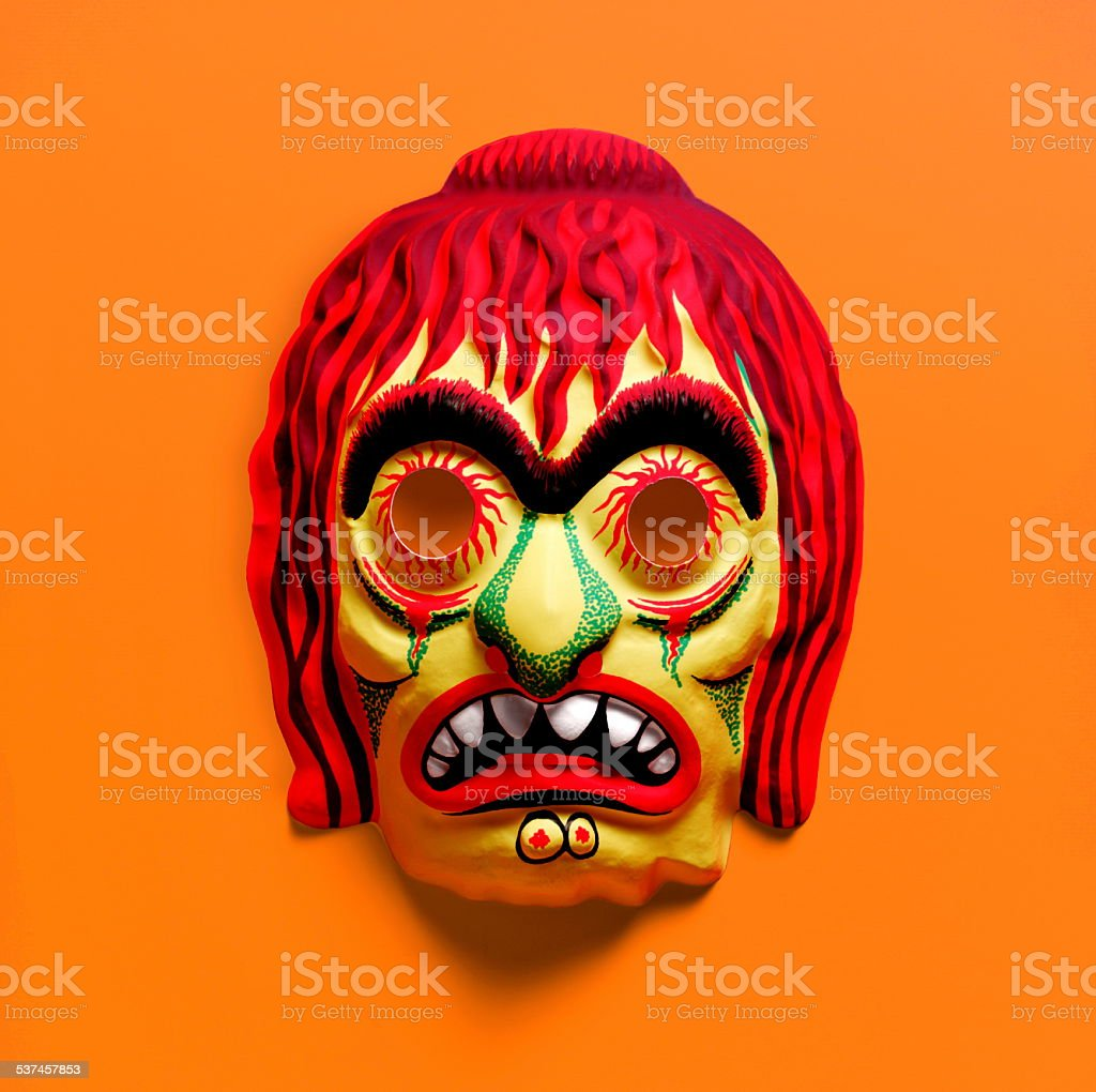 Redhead Witch Mask stock photo