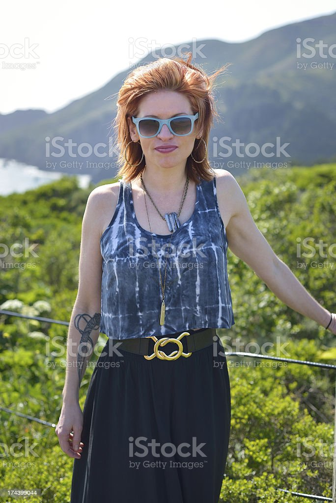 Redhead woman royalty-free stock photo