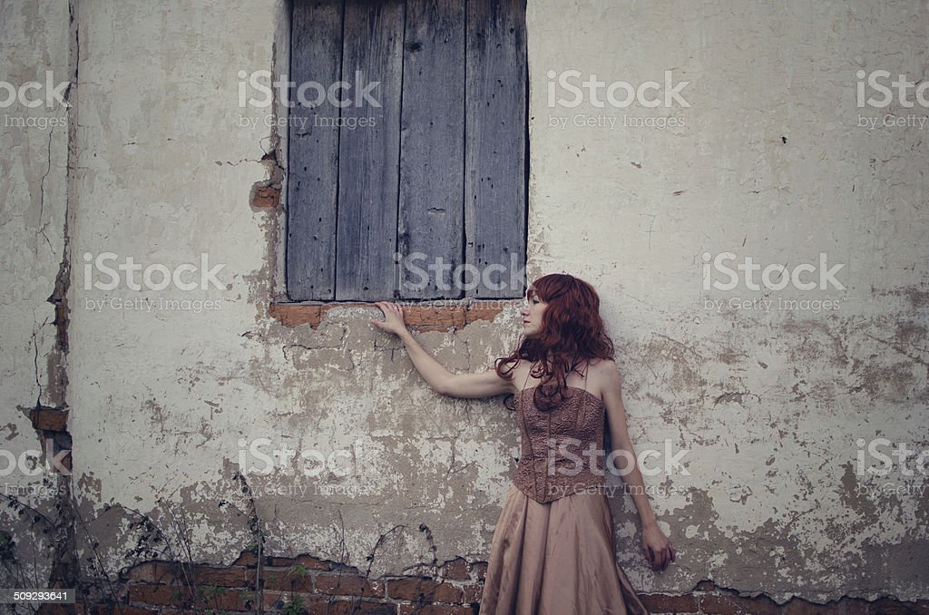 Redhead woman stock photo