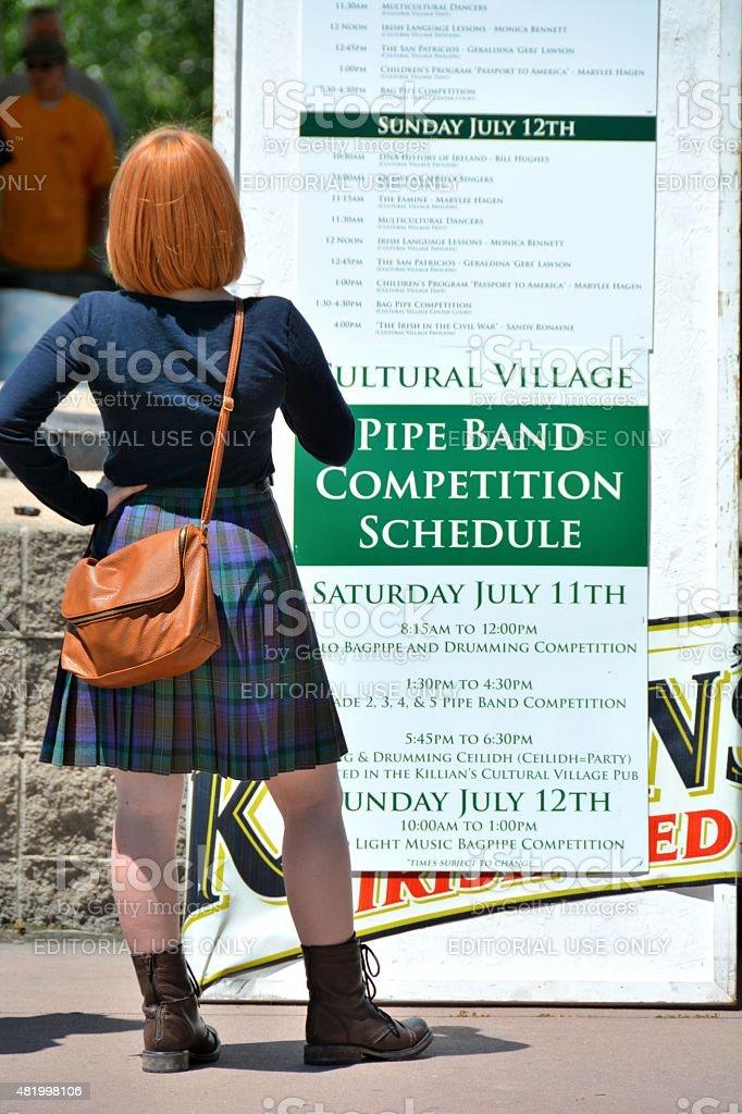 Redheaded Irish Woman stock photo