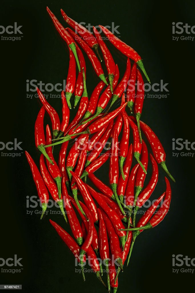 Red-hot chili peppers stock photo