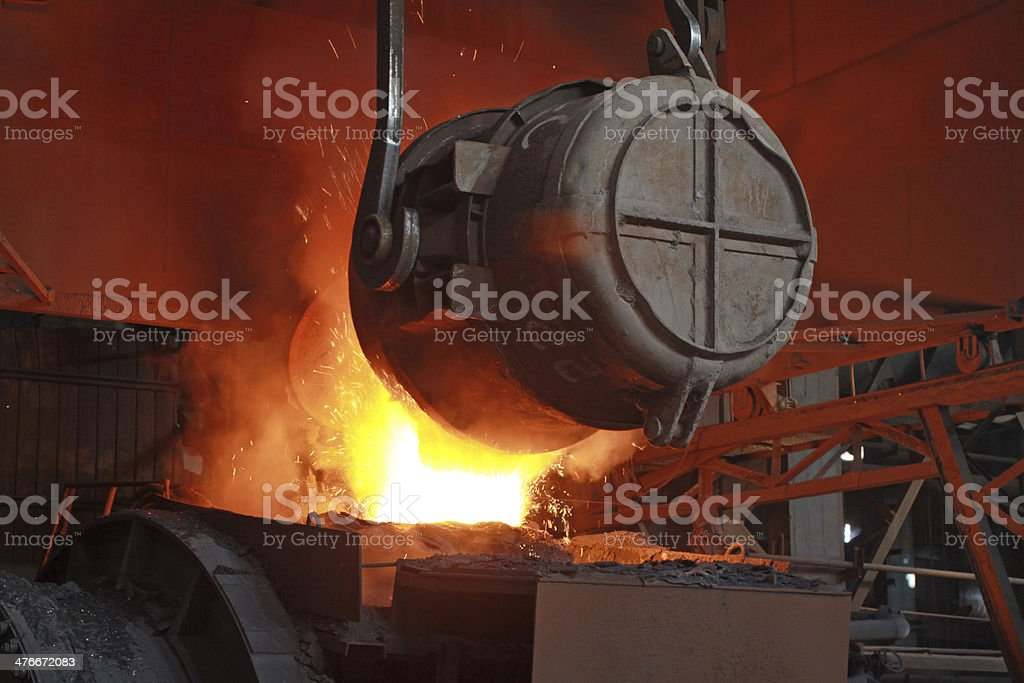 red-hot molten steel royalty-free stock photo
