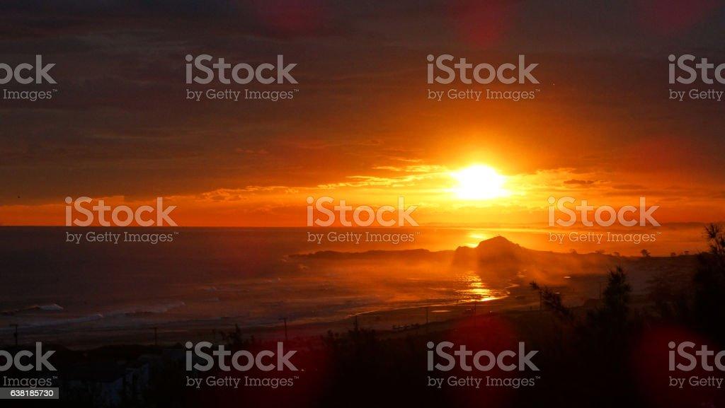 Redish Beach Sunset stock photo