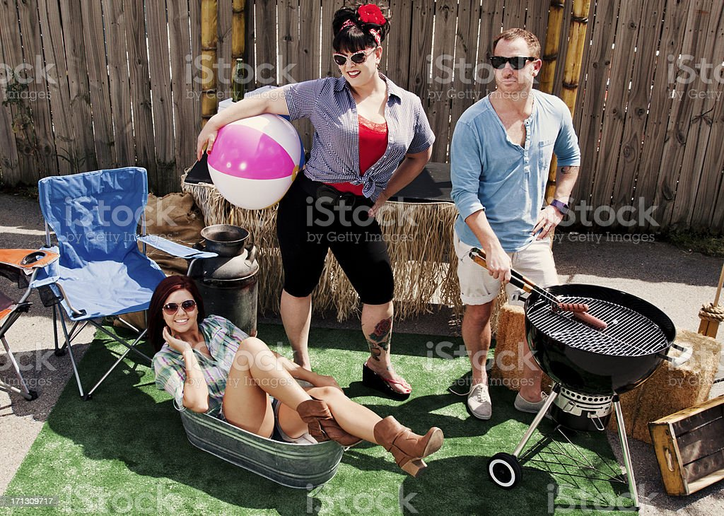 Redneck Barbeque royalty-free stock photo