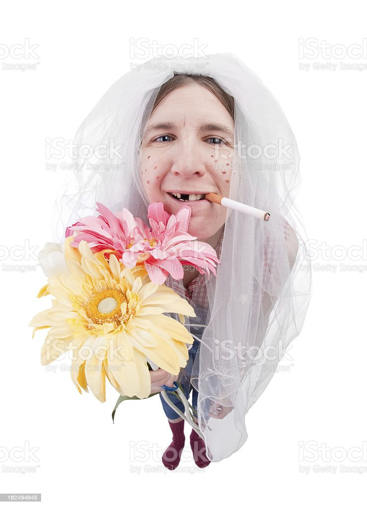 Redneck Bride royalty-free stock photo