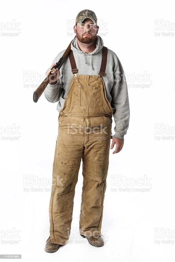 Redneck With Shotgun royalty-free stock photo