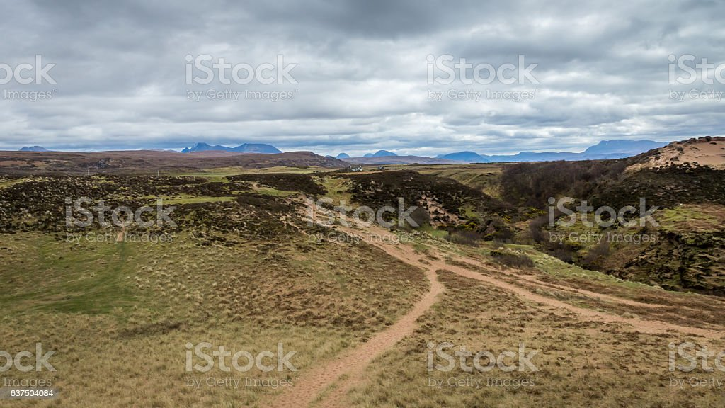 Redpoint Beach Paths stock photo