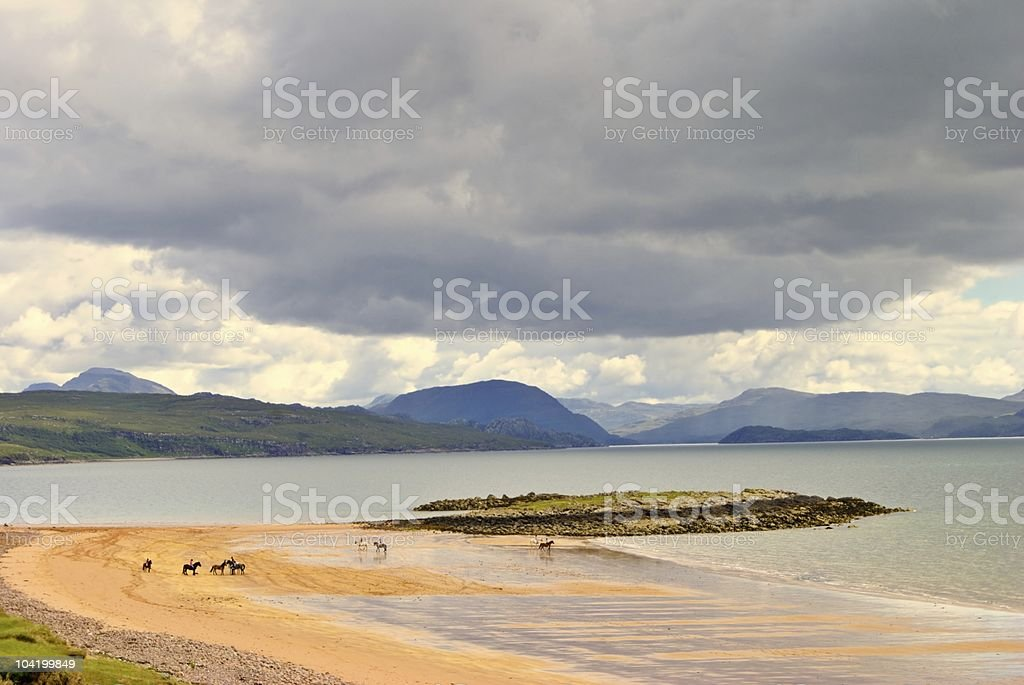 Redpoint beach, Wester Ross stock photo