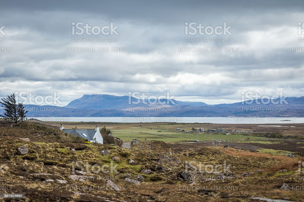 Redpoint on the west coast of Scotland, UK. stock photo
