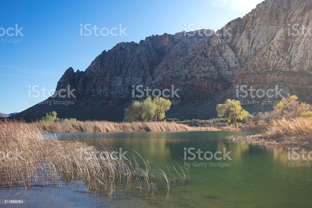 Redrock Canyon Lake stock photo