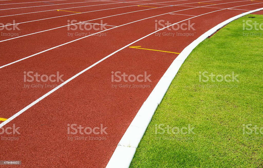 RedRunning Track stock photo