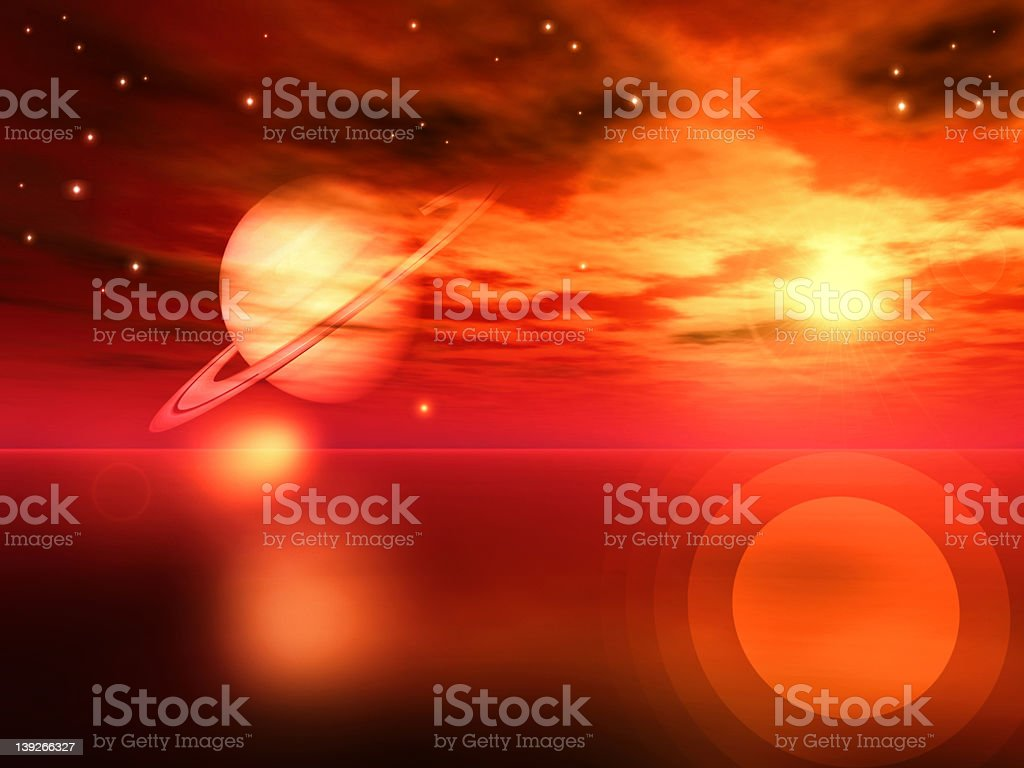 Redscape royalty-free stock photo