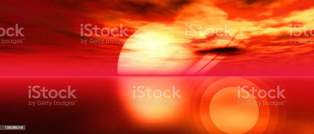 Redscape - Widescreen royalty-free stock photo