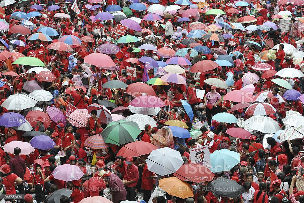 Red-Shirt Protest in Bangkok royalty-free stock photo
