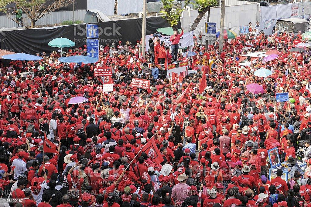 Red-Shirt Rally in Bangkok royalty-free stock photo