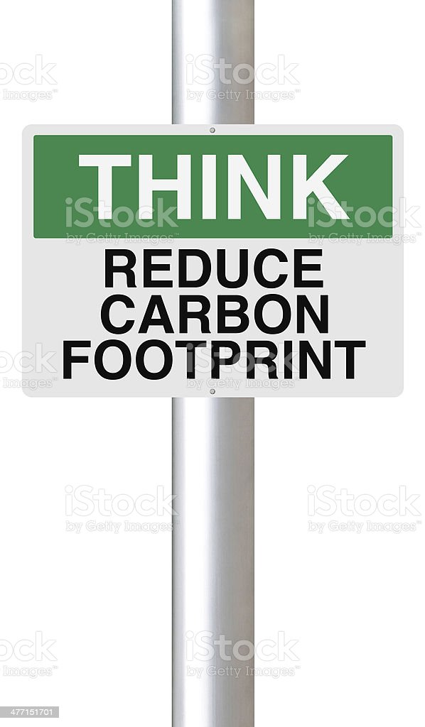 Reduce Carbon Footprint stock photo