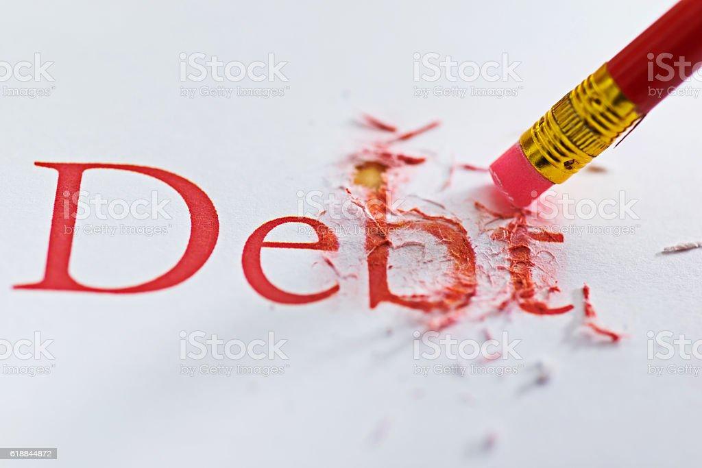 Reduce debt concept stock photo