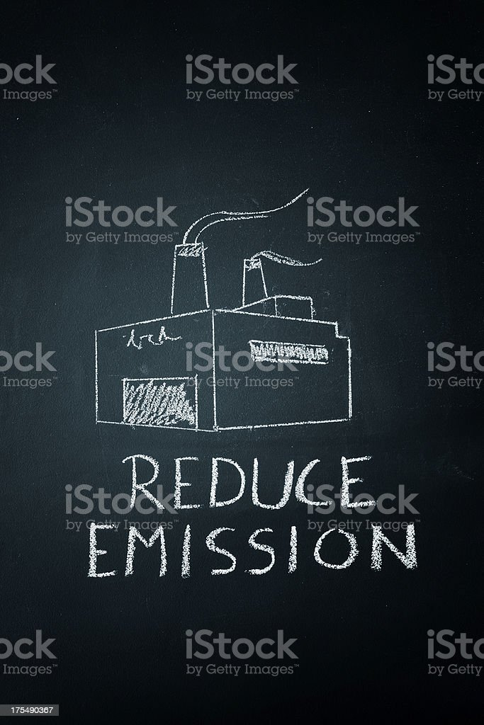 Reduce Emission stock photo