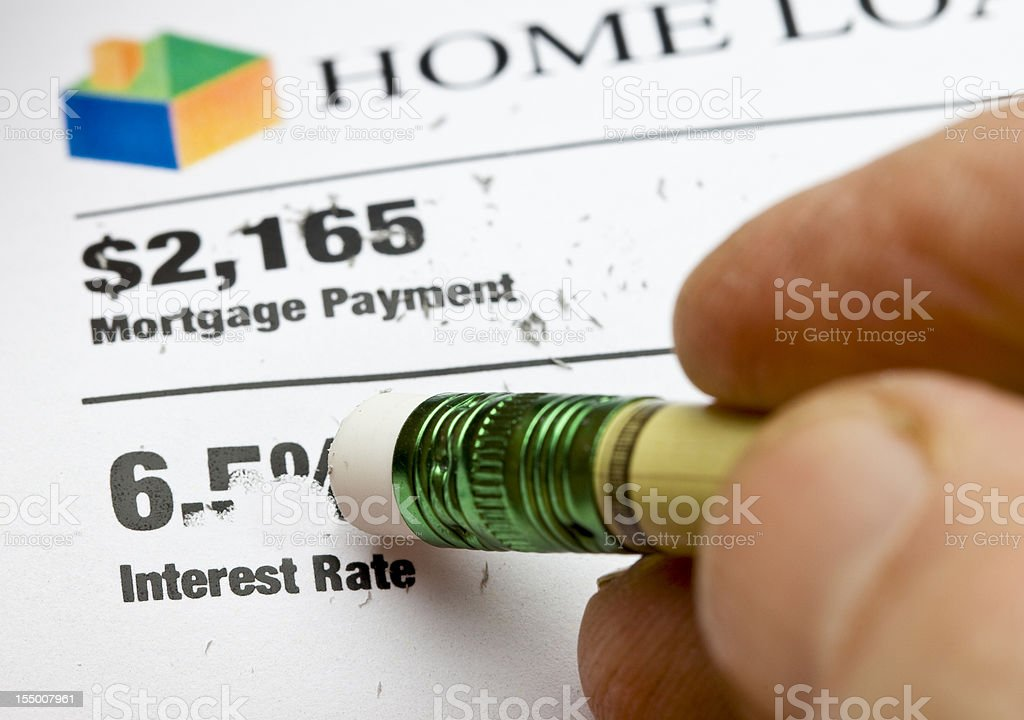 Reduce Interest Rate stock photo