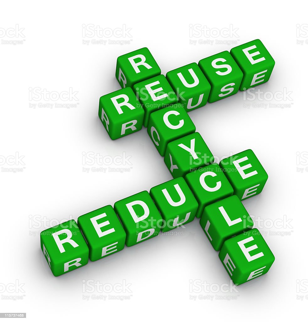 Reduce, Recycle, Reuse stock photo