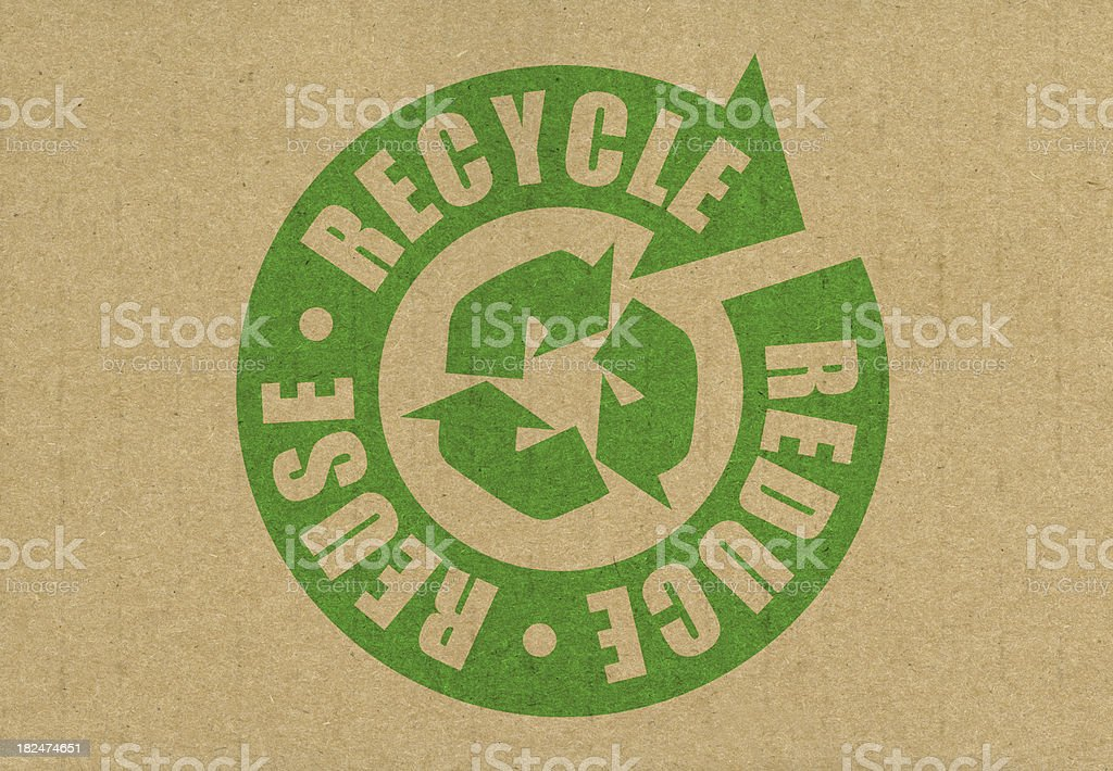 Reduce Reuse Recycle stock photo