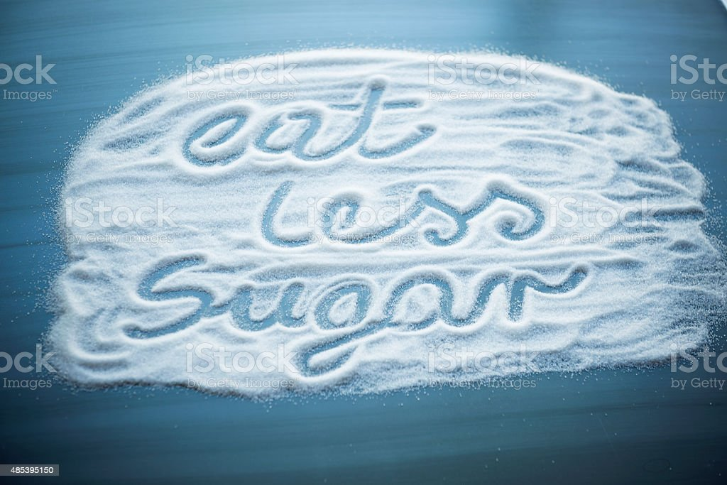 Reduce sugar stock photo
