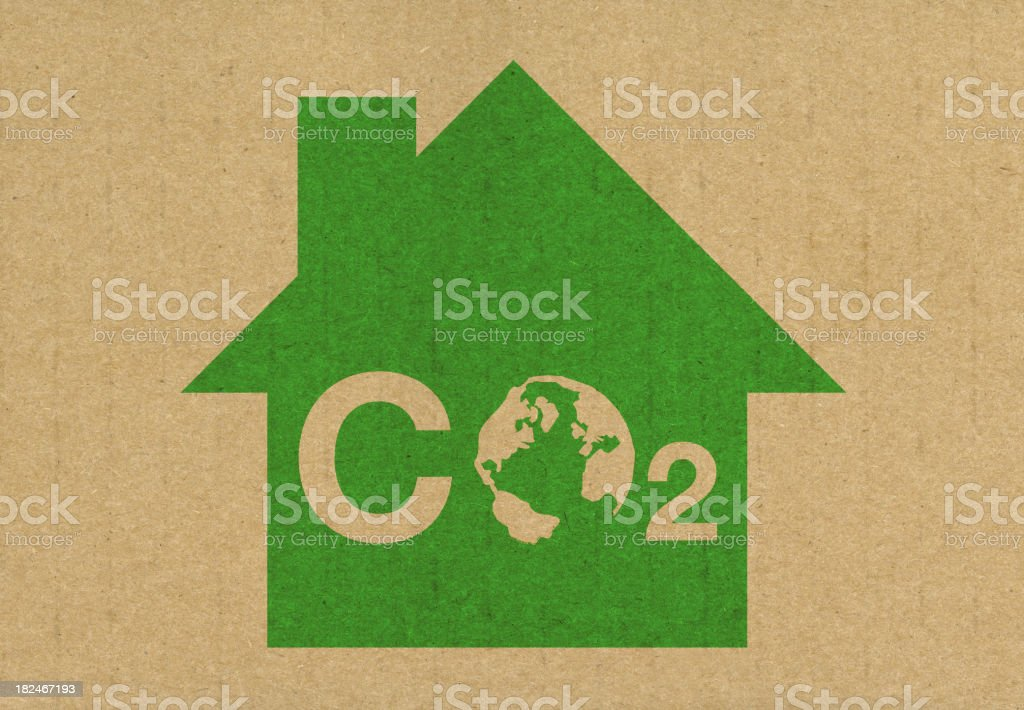 Reduce your carbon footprint CO2 royalty-free stock photo