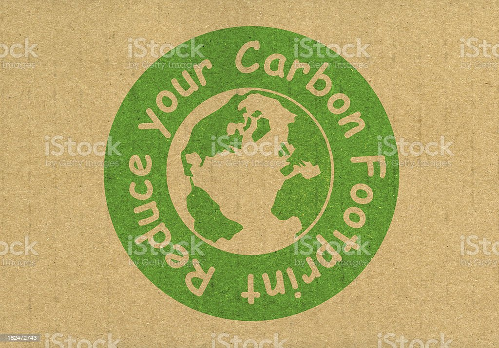 Reduce your carbon footprint royalty-free stock photo