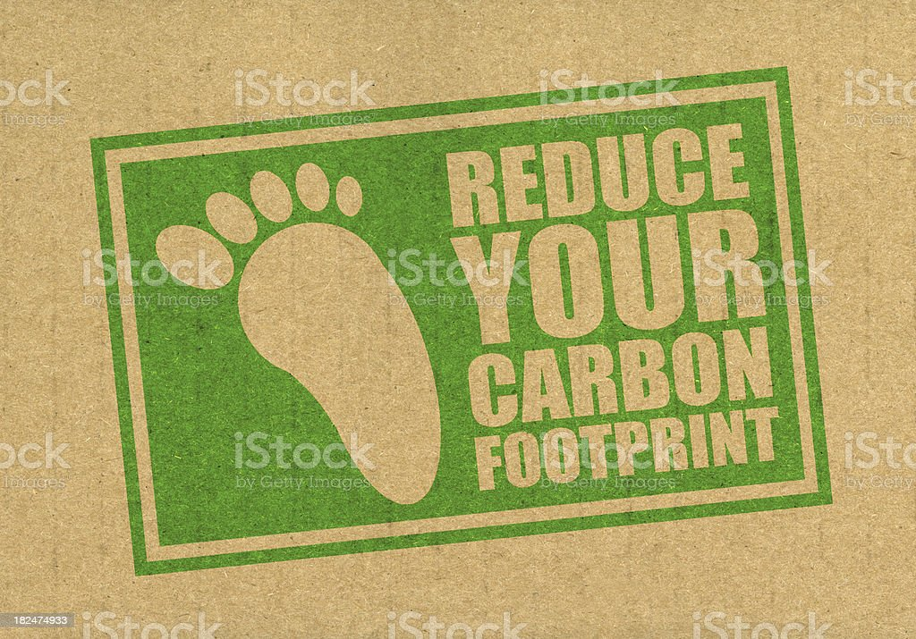 Reduce your carbon footprint stock photo