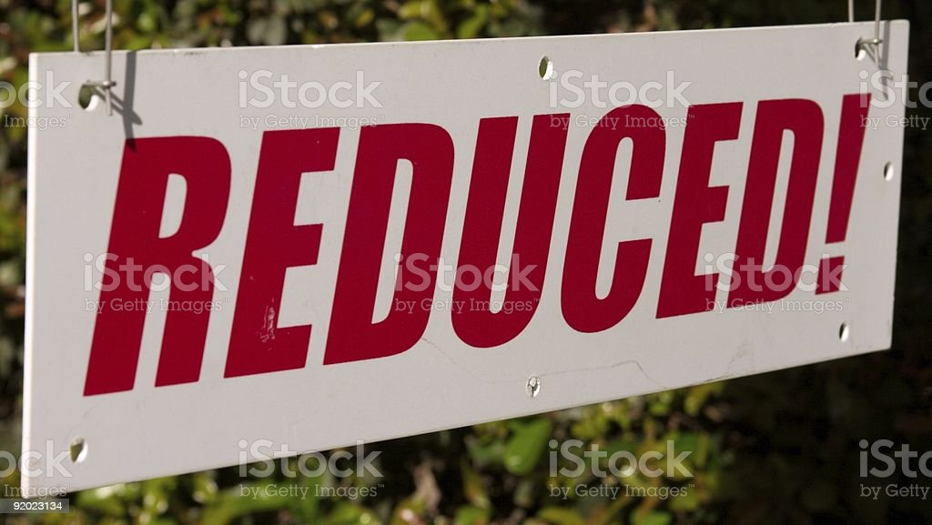 Reduced! stock photo
