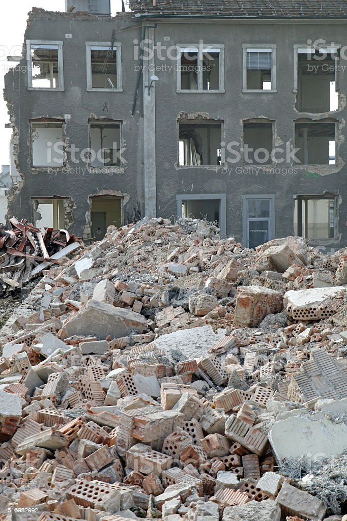 Reduced to Rubble stock photo