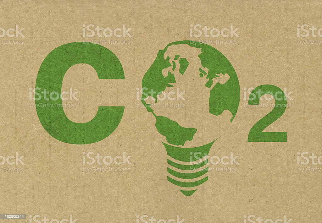 Reducing CO2 emissions royalty-free stock photo