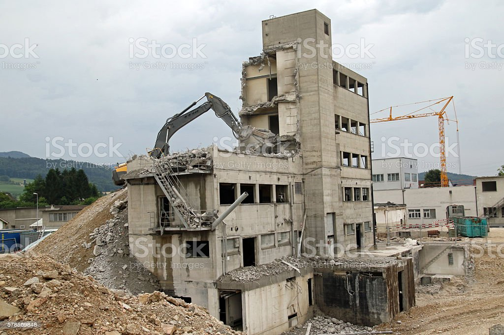 Reducing to Rubble stock photo