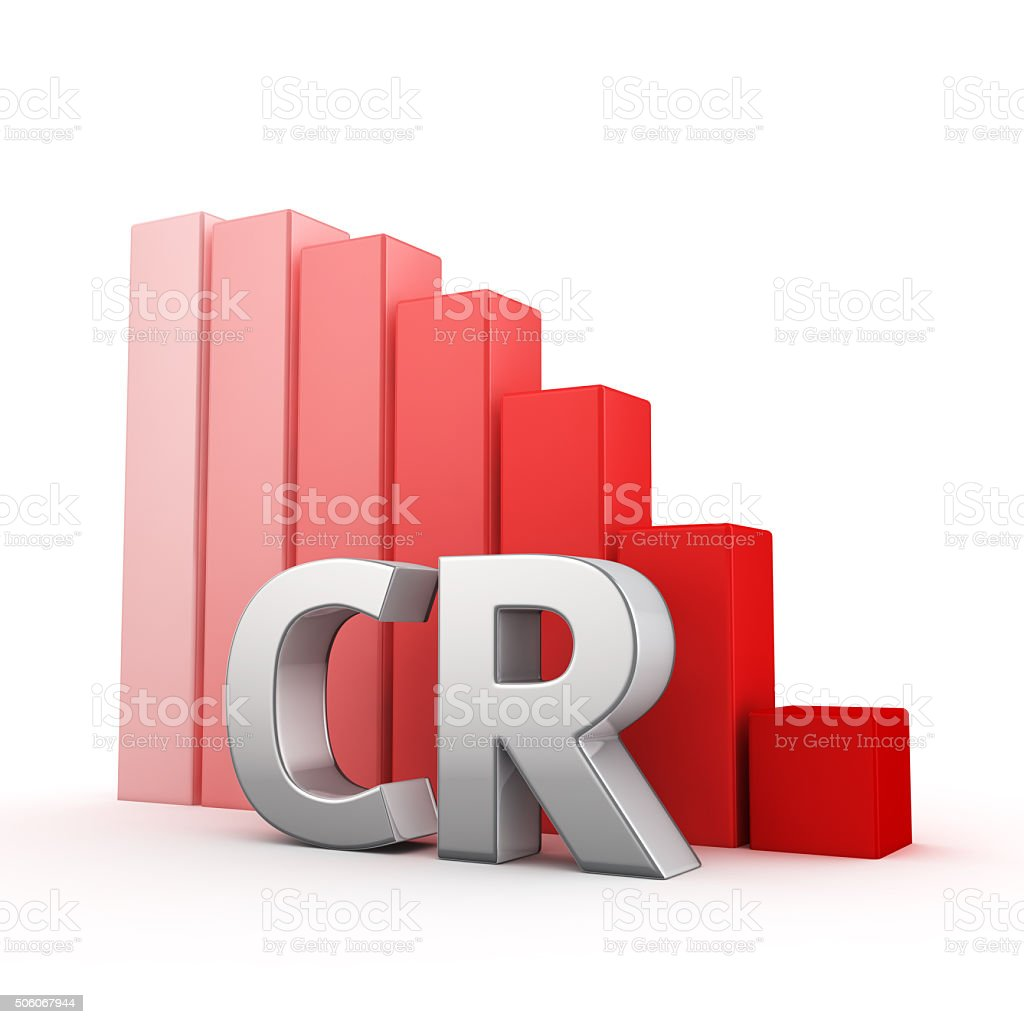 Reduction of CR stock photo
