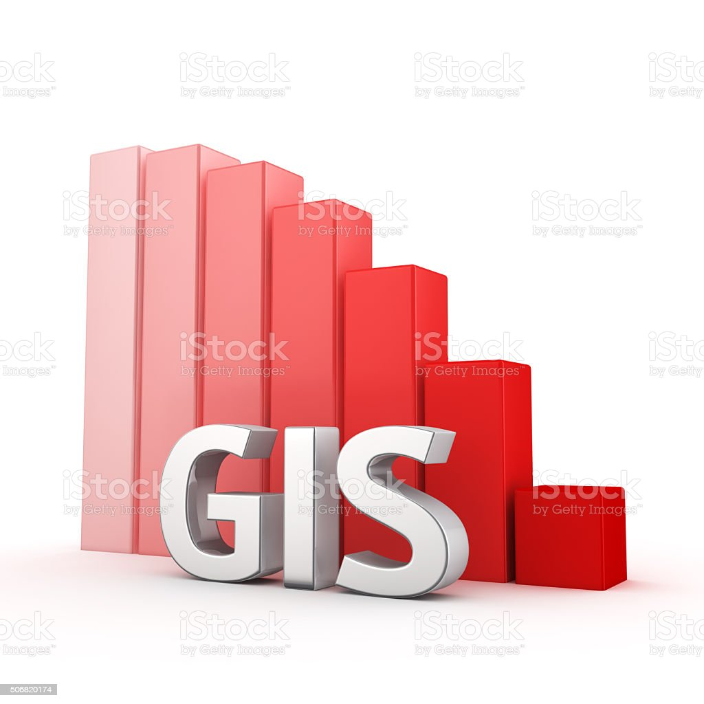Reduction of GIS stock photo