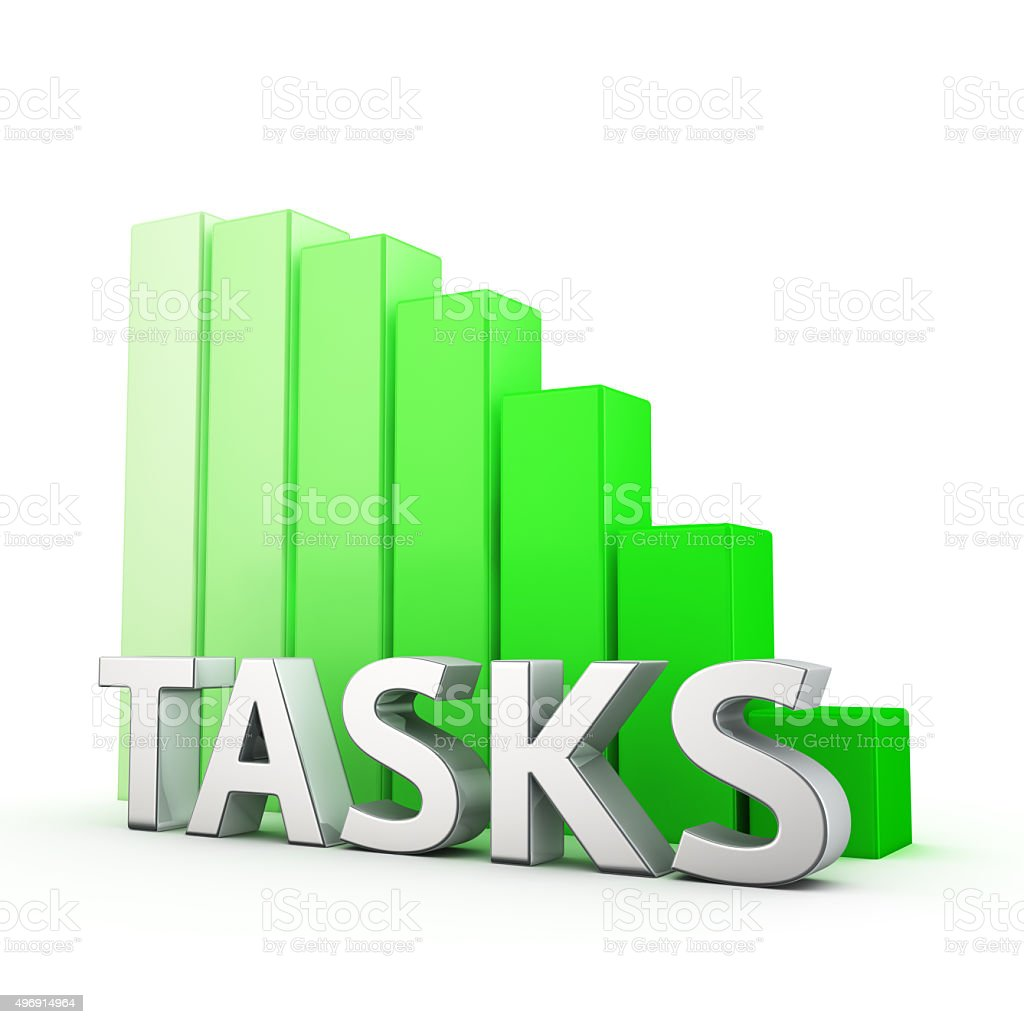 Reduction of Tasks stock photo