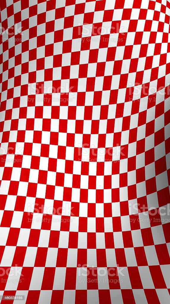 Red-white  checkered plane stock photo